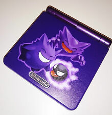 Custom Printed & Re-shell Pokemon Gengar Haunter Nintendo Game Boy Advanced SP