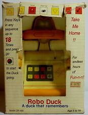 ROBO DUCK VTG 80's PROGRAMMABLE 8'' ROBOT CR-400 B/O MIP UNUSED WORKS