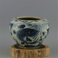 Beautiful Chineseian Blue White Porcelain Fish Pot