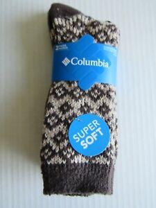 Columbia Womens Super Soft Crew Sock 2 Pair 4-10 Nwt