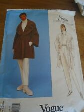"1483 PATRON  ""VOGUE MANTEAU PANTALON  ELEGANT  CREATION  MONTANA 40 AU 44"