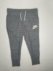 Nike Big Girls Capri  Jogger Pants SZ S Gray 813875-091