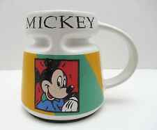 New listing Vintage Mickey Mouse Spill Proof Travel To Go Coffee Tea Mug Non Skid Wide Base