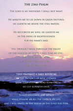 THE 23rd PSALM (Lord is my Shepherd) Courage, Faith Biblical Inspiration POSTER