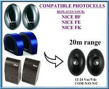 Nice Apollo BF, FE, FK Photocells Photo Safety Beam Sensor 12/24V AC/DC 15m/50ft