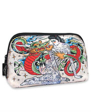 Liquorbrand Japonski Traditional Japanese Dragon and lady Makeup Pouch Bag