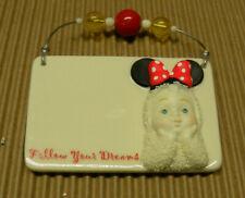 New listing Dept 56 Snowbabies Disney Plaque Ornament Minnie Mouse Follow Your Dreams 2007