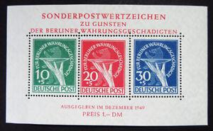 1949 Block 1 ! Währungsgeschädigten-Block postfrisch. 950 M€