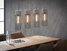 Hängelampe GITTER Pendelleuchte Hängeleuchte Metallgestell Industrial 4 Leuchten