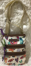 Lily Bloom Butterfly Twister Eva Multi Section Mini Crossbody Bag NWT Free  Ship
