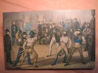 Göttingen - Corps Bremensia & Nassovia - Mensur - Neudruck auf Holz gezogen