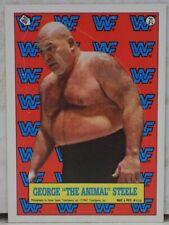 WWF GEORGE THE ANIMAL STEELE TOPPS CARD STICKER 21 WWE LJN HASBRO