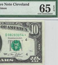 1974 $10 CLEVELAND * STAR * 🌟 FRN, PMG GEM UNCIRCULATED 65 EPQ BANKNOTE