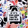 50 Retrosticker Stickerbomb Cartoon music musik Aufkleber Sticker Mix Decals