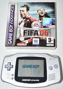 Nintendo Game Boy Advance Limited Edition Platinum Silver AGB-001 2000 & FIFA 06