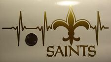 New Orleans Saints Life Gold car decal