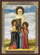 RUSSIAN ORTHODOX ICON ST.VERA, NADEJDA, LUBOV & SOFIA  Aussie stock Fast Post