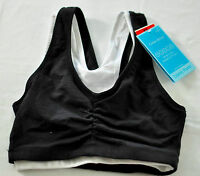 women's Barely There pack of 2 cotton active bra size XS black white msrp $30