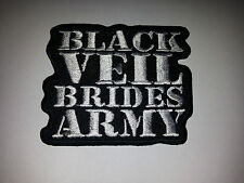 PUNK ROCK METAL MUSIC SEW ON / IRON ON PATCH:- BLACK VEIL BRIDES ARMY (a)