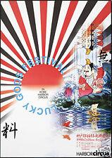 Original Vintage Poster Tadanori Yokoo Lucky Gods Fest Japanese Psychedelic Pop