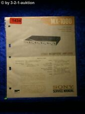 Sony Service Manual MX 1000 Stereo Microphone Amplifier (#1434)