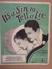 song sheet ITs A SIN TO TELL A LIE Billy Mathew 1936