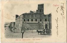 1902 Cagliari Hotel La Scala di Ferro V. Umberto I carrozza Ambulante FP B/N VG
