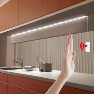 USB Motion LED Lamp Strip Tape Hand Sweep Switch Sensor Kitchen Waterproof Light
