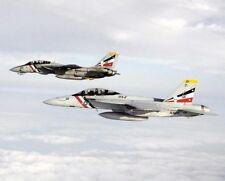 F-14/F-14D Tomcat & F-18 / F/A-18f Hornet 11x14 Silber Halogen Fotodruck