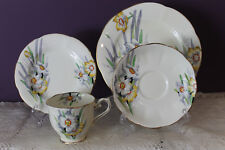 ROYAL ALBERT ENGLAND CROWN CHINA 'NARCISSUS' 4 PIECE SETTING(S) c1920's