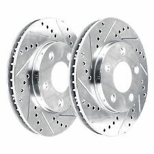 [FRONT KIT]  2 Platinum Hart *DRILLED & SLOTTED* Front Disc Brake Rotors - 2411