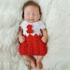 Reborn Full Body Solid Silicone Dolls 10 Inch Mini Reborn Baby Girl Dolls Soft