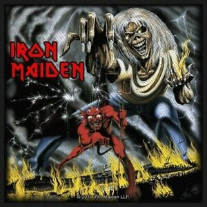 Iron Maiden Number Of The Beast Woven Patch Official Heavy Metal Band Merch New