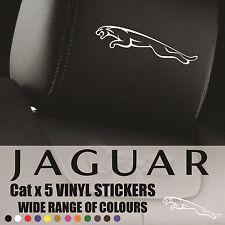 JAGUAR appui-tête stickers-autocollants en vinyle-JAGUAR Badge Logo Graphique Chat x6