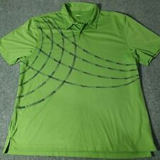 Izod Performance Polo Shirt Men's Large Size Green Golf Collared Short Sleeve L