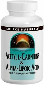 Source Naturals Acetyl L-Carnitine & Alpha-Lipoic Acid 650mg - 120 Tablets