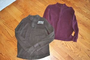 YOUTH~ABERCROMBIE&FITCH&GAP~100%Cotton Long Sleeves LOGO 3 Sweaters Sizes L/XL
