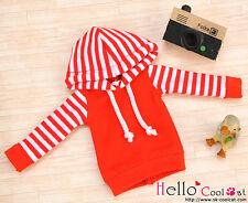 ☆╮Cool Cat╭☆23.【NP-B03】Blythe/Pullip Hoodie Top(Long Sleeves)# Red Stripe