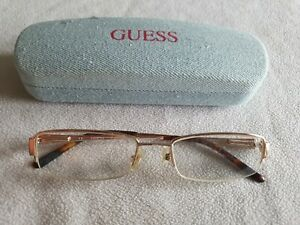 Guess gold glasses frames. GU1489ST. With case.
