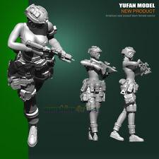 75MM Resin Kit Figure Model American Seal Assault Team Femal Soldier Garage Kit