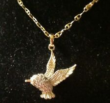 "Stunning Womans Hummingbird Necklace Pendant W/ 18""Chain* FREE SHIPPING    *ZOEZ"