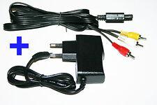 Netzteil + TV AV Kabel Super Nintendo SNES Stromkabel Strom Fernsehkabel Chinch