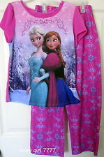 NWT Official Disney FROZEN Pajama Top Bottom SET 4/5 ELSA ANNA GREAT QUALITY!!