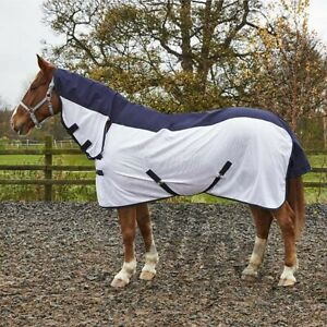 7'3 deep fit HEAVY HORSE full neck FLY RUG with belly flap 24hr DPD