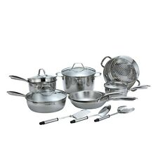 Momscook 14-Piece Stainless steel Cookware Set Kitchenware Set