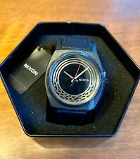 NIXON Men's Star Wars Kylo Time Teller Leather Strap Watch Black NEW in Gift Box