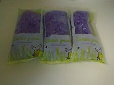 Purple Plastic Easter Grass - Lot of 4 Packages