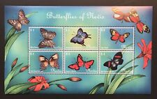 2000 MNH BUTTERFLIES OF NEVIS STAMPS SHEET BUTTERFLY INSECT MOTH WHITE PEACOCK