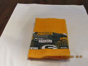 Handmade NFL Greeh Bay Packers Gold Hand Towel