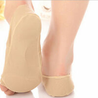 Women's Toeless Open Toe Spandex Socks No Show for High Heels 1 Pair -Nude